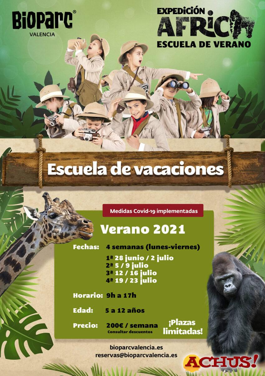 """Vuelve la escuela de vacaciones """"Expedición África"""" de Bioparc Valencia con su edición de verano"""